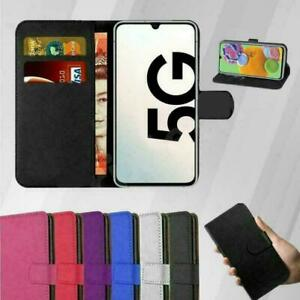 Samsung Galaxy A12 Mobile Phone Leather Wallet Folio Book Case Cover Card Holder