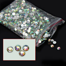 1000Pcs 4mm Nail Art Flatback Crystal AB 14 Facets Resin Round Rhinestone Beads