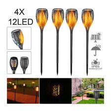 2/4X Solar Power Torch Light Waterproof Flame Flickering Dancing Garden Lamp