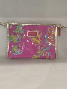 Lilly Pulitzer  Estee Lauder PVC  Floral Cosmetic Makeup Bag New