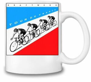 Kraftwerk Tour De France themed 11oz Ceramic coffee Mug Birthday gift.