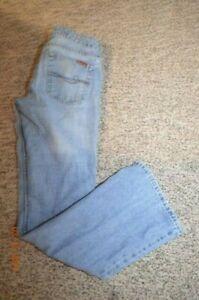 Women AEROPOSTALE Distressed Lo-Rise  Flare Leg Jeans Size 30W 31L