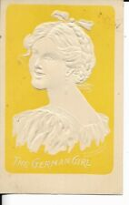 victorian era cameo style postcard titled the german girl dated 1911