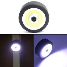 COB LED Round Flashlight Torch Car Inspection Light W/ Magnetic Base+Adjust Hook