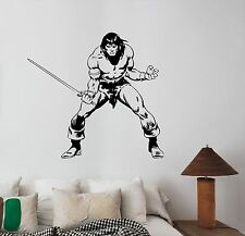 Conan the Barbarian Wall Decal Movie Vinyl Sticker 90s Art Room Vintage Decor c2