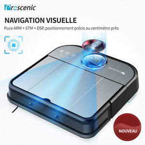 Proscenic GT320 Alexa Aspirateur robot Laveur Balayeuse APP Cartographie Caméra