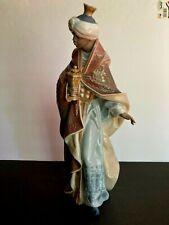 "Large Vintage Lladro King Balthasar Nativity Christmas . Spain .13 1/2""."