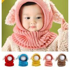 Boy Girl Baby Wool Hat Child Puppy Cashmere Ears Beanie Shawl Hat One-piece Neck