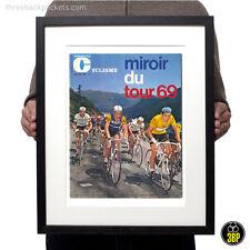 1969 Tour de France Magazine Cover Print, Eddy Merckx, Poulidor, Vintage Cycling