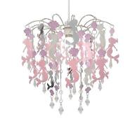 Mermaid Chandelier Pink Lamp Shade Easy Fit Pendant Ceiling Lighting for Kids