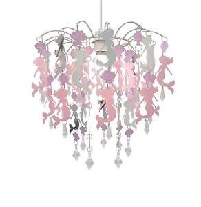 Mermaid Chandelier Pink Lamp Shade Easy Fit Pendant Ceiling Lighting for Kids