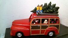 "Amusements 32315 9.25"" Station Wagon w/Santa, Musical, Lights, Free Shipping"