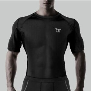 Mooto MMA Men Sports Short Sleeve Rash Guard Boxing Judo Jit Jitsu Gym Fitness