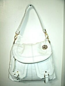 The Sak Gorgeous Large White Patent Leather Hobo Spacious Shoulder Bag in EUC!