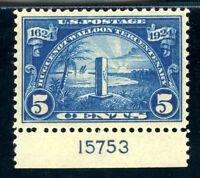 USAstamps Unused Superb US Huguenot-Walloon Mayport Plate # Scott 616 OG MNH