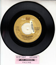 "ROY ORBISON Distant Drums & Falling  7"" 45 rpm record + juke box title strip"