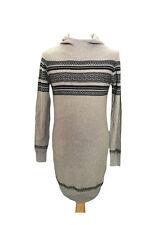 Adidas Neo Womens Knitted Hooded Dress Medium Grey/Navy