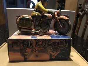 Tippco tin wind up TCO-59 Motorcycle RARE Germany