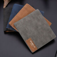 Mens Leather Slim Bifold Credit ID Card Holder Slim Wallet Billfold Purse Clutch