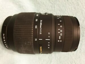 Sigma 70-300 F4-5.6 DG Macro lens Pentax K mount +Hood+Caps+Box