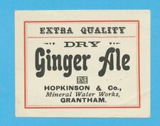 1950's - HOPKINSON & Co - GRANTHAM - GINGER ALE BOTTLE LABEL