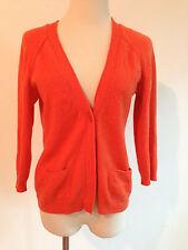 Sutton Cashmere Modern Classics 100% Cashmere Sweater Peacy Orange