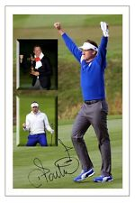 IAN POULTER MONTAGE EUROPE 2014 RYDER CUP SIGNED PHOTO PRINT GOLF AUTOGRAPH