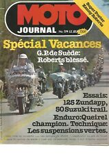 MOTO JOURNAL N°374 125 ZUNDAPP KS / 50 SUZUKI TS / SUSPENSIONS VERTES