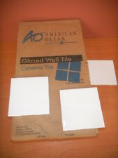 100 American Olean Glazed Wall Ceramic Tile ICE WHITE Bright 4 ¼ x 4 ¼ 25-44SP