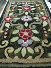 """ANTIQUE BOLD COLORFUL EARLY 1900S RAG RUG 23"""" X 43"""""""