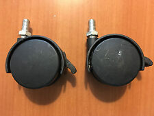 """TWO (2) PLASTIC 2"""" SWIVEL CASTERS with BRAKE"""