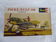 VINTAGE AND RARE REVELL H-615: FOCKE-WULF 190 (17 PARTS X 1:72 SCALE) (1962) NEW