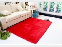 2018 Solid Designer Shag Shaggy Floor Confetti Rug Carpet Soft Living room Mat