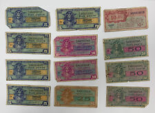 Military Payment Certificate Series 521 471 Lot Of 12