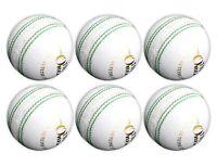 6x ONEX Sports hard white Cricket Balls 5.5oz t20 Club county Adult Senior Match