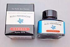 J HERBIN BOTTLED FOUNTAIN PEN INK 30ML BLEU PERVENCHE
