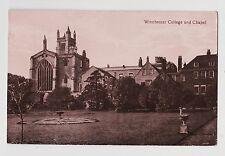 RPPC,Winchester,U.K.Winchester College & Chapel,Hampshire,Used,Winchester,1917