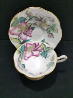 ROSINA Bone China Made in England Tea Cup and Saucer Set Signed Bentley 4855