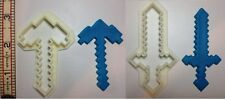 Minecraft Sword and Axe outline cookie cutter