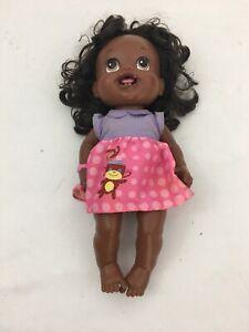 "Hasbro 2010 Baby Alive 14"" Black Doll. Pigtails. Brown Eyes."