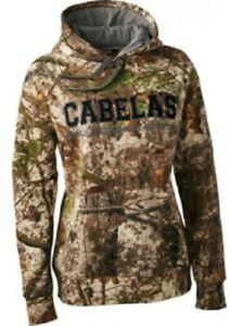 NWT Womens Cabela's Zonz WoodLands ColorPhase 4Most Adapt Camo Hoodie Sweatshirt