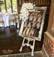 Mirror Table Plan / Wedding Vinyl Stickers / Video instruction & tools provided