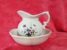 McCoy Pottery pitcher and bowl with violets