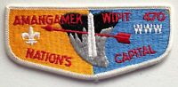 AMANGAMEK WIPIT OA LODGE 470 BSA NATIONAL CAPITAL AREA PATCH DC CLOTH BACK FLAP