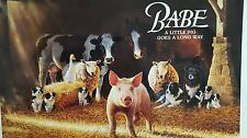 Babe A Little Pig Goes A Long Way Poster. Limited Edition 1995 Universal Studios