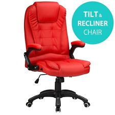 RayGar Red Reclining Office Chair Executive Home Swivel PC Computer Desk Chair