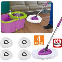 Lots of 4 Microfiber Mop Head Refill Replacement Magic Mop 360° Spin Microfiber