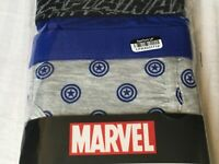 A32 Men's Marvel Captain American  Boxer Briefs 2-Pack small 28-30