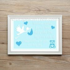 Christening Gift New Born Baby Boy Keep sake Present A4 Print