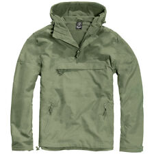 Brandit Classic Windbreaker Hooded Anorak Mens Jacket Cadet Hiking Hunting Olive